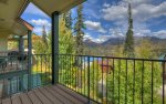 Mountain views from balcony of Durango Colorado vacation rental condo at Purgatory Resort