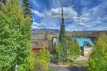 Balcony mountain view from Durango Colorado vacation rental condo at Purgatory Resort