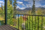 Durango Colorado vacation rental condo at Purgatory Resort balcony off bedroom mountain views
