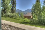 Mountain view from townhomes at Durango Colorado vacation rental condo at Purgatory Resort