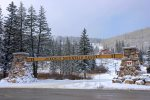 Durango Colorado vacation rental condo at Purgatory Resort winter snow entrance