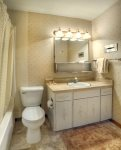 Bathroom in Purgatory Resort vacation rental ski condo Durango Colorado