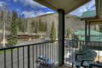 View from balcony of Purgatory Resort vacation rental ski condo Durango Colorado