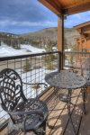 Durango Colorado vacation rental condo Black Bear Townhomes Purgatory Resort balcony ski slope views