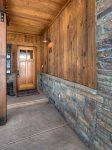 Front door entry to Durango Colorado vacation rental condo Black Bear Townhomes Purgatory Resort