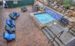 Hot tub patio at Durango Colorado vacation rental condo Black Bear Townhomes Purgatory Resort
