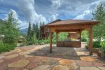 Gazebo picnic area at Durango Colorado vacation rental condo Black Bear Townhomes Purgatory Resort