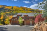 Durango Colorado vacation rental condo Black Bear Townhomes Purgatory Resort fall color on ski slopes