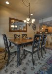 Durango Colorado vacation rental condo Black Bear Townhomes Purgatory Resort dining room