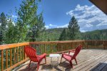 Deck at Lake View House vacation rental home Durango Colorado