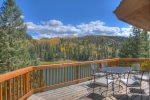 Dining view deck at Lake View House vacation rental home Durango Colorado