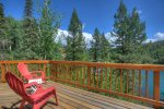 View deck at Lake View House vacation rental home Durango Colorado
