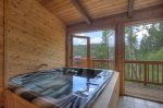 INdoor hot tub at Lake View House vacation rental home Durango Colorado