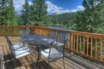 Dining deck at Lake View House vacation rental home Durango Colorado