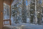 Winter snow at Lake View House vacation rental home Durango Colorado