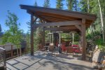 Gazebo w Grill Outdoor Dining adjacent to Hot Tub Deck