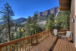 Durango Colorado vacation rental home known as Cliff View House spectacular mountain views