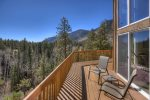 Durango Colorado vacation rental home known as Cliff View House fantastic views of cliffs and mountains from large deck
