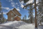 Durango Colorado vacation rental home known as Cliff View House winter mountain snow scenes