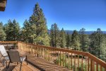 Durango Colorado vacation rental home known as Cliff View House private deck w mountain views