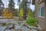 Early fall colors and snow at Durango Colorado vacation rental home known as Cliff View House