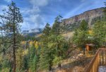 Durango Colorado vacation rental home known as Cliff View House private outdoor deck w mountain views
