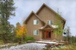 Fall color views in private setting at Durango Colorado vacation rental home known as Cliff View House