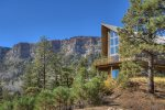 Private Rocky Mountain Setting at Durango Colorado vacation rental home known as Cliff View House