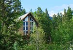 Private wooded setting at Durango Colorado vacation rental home known as Cliff View House