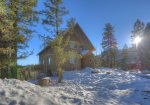 Snowy winter sunsets at Durango Colorado vacation rental home known as Cliff View House