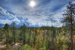 Open space and views at Durango Colorado vacation rental home known as Cliff View House