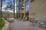 Durango Colorado vacation rental at Tamarron Lodge summer deck w gas grill and outdoor dining