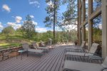 Outdoor deck and lounge at Durango Colorado vacation rental at Tamarron Lodge