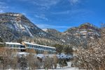Winter snow at Durango Colorado vacation rental at Tamarron Lodge
