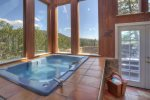 Hot tub sun room in Eagles Nest vacation rental home in Durango Colorado