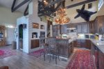 Eagles Nest vacation rental home in Durango Colorado near Purgatory Resort kitchen