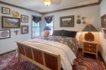 Durango Colorado vacation rental mountain home near Purgatory Resort known as Eagles Nest bedroom on ground level w queen size bed