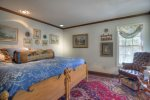 Master bedroom entrance at Durango Colorado vacation rental mountain home near Purgatory Resort known as Eagles Nest