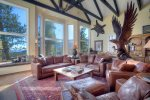 Living room in Eagles Nest vacation rental home in Durango Colorado