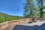 Durango Colorado vacation rental home near Purgatory Resort known as Eagles Nest large deck with lake and mountain views