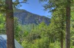 Durango Colorado vacation rental home near Purgatory Resort known as Eagles Nest mountain view in summer