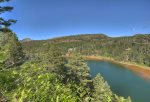 Durango Colorado vacation rental home known as Eagles Nest alpine lake views from mountainside deck