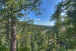 Durango Colorado vacation rental home near Purgatory Resort known as Eagles Nest forest and Rocky Mountain views