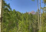 Alpine lake and mountain views from Durango Colorado vacation rental home near Purgatory Resort known as Eagles Nest