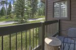 Durango Colorado vacation rental home at Silverpick Condominiums bedroom w king bed and mountain views