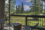 Bedroom w king bed and mountain views in Durango Colorado vacation rental home at Silverpick Condominiums