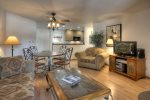 Durango Colorado vacation rental home at Silverpick Condominiums living room and dining room