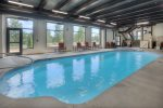 Indoor swimming pool at Tamarron Lodge vacation rental condo Durango CO
