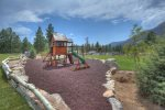 Kids playground at Tamarron Lodge vacation rental condo Durango Colorado