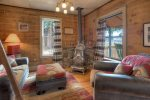 Durango Hesperus Colorado vacation rental Cranberry Cottage Riverside Cabin living room ladder to loft bedroom